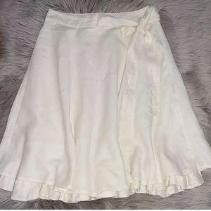Zara Women Flax Linen Midi Skirt